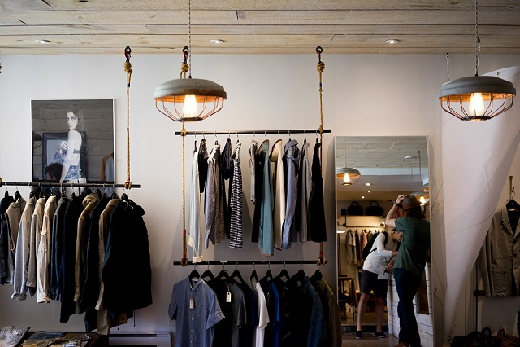 メンズファッションの店