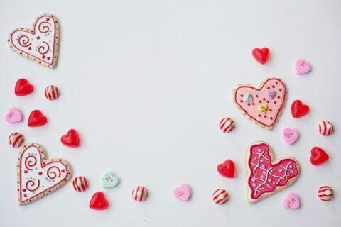 ハートの形をしたクッキー